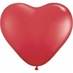 Srdcia - červené