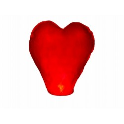 LAM002 Lampión šťastia – červené srdce